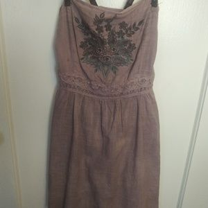 Free People purple and leather strap dress
